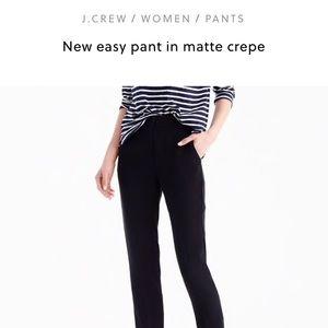 JCrew Easy Pant in Matte Crepe